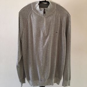Vineyard Vines Striped Gray Pullover Size XL